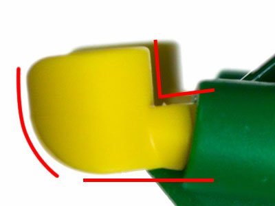 photo of a Lego minifigure fist